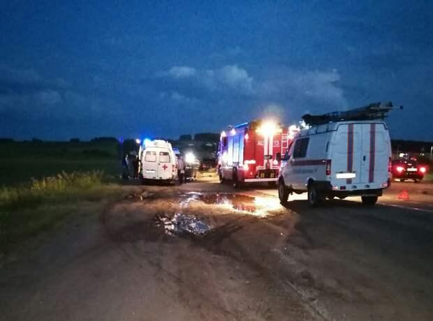 Шесть человек попали в больницу после аварии на трассе в Удмуртии