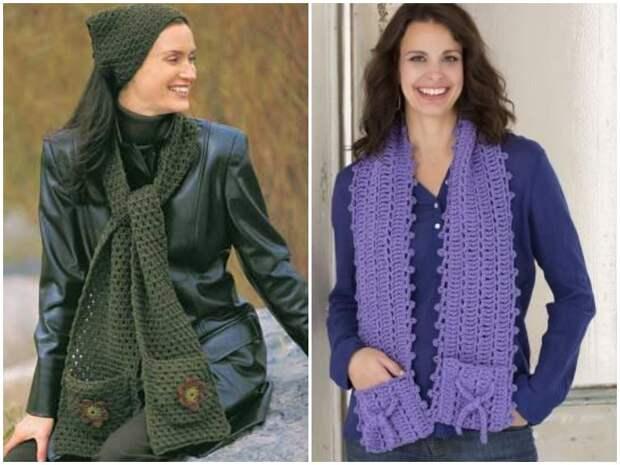 Шарф с карманами: стильное дополнение к хорошо продуманному гардеробу