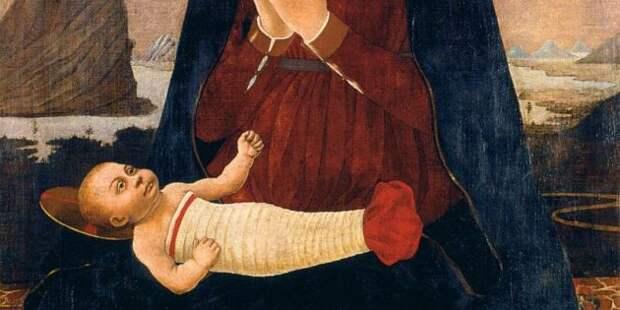 Дети Средневековья: «Мадонна с младенцем», Алессо Балдовинетти