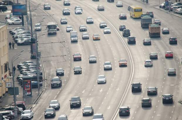 Движение в Москве почти свободное. Фото: Mos.ru