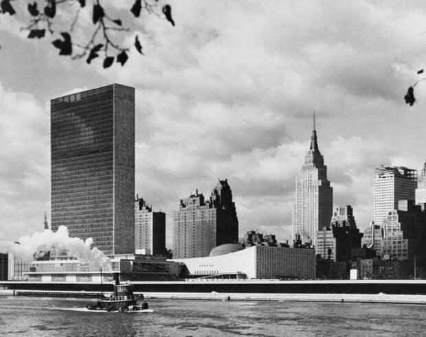 Здание ООН в Нью-Йорке, 1950-е годы./Фото: regnum.ru
