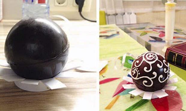 шоколадные сердечки для украшения