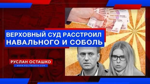 Верховный суд расстроил Навального и Соболь по иску Пригожина