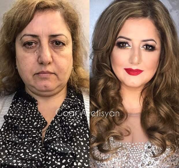 Этот макияж Гоар сделала своей маме на 30-летие ее брака визажист, макияж
