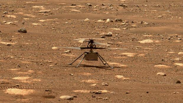 Марсианский вертолёт успешно прошёл тест на вращение лопастей с высокой скоростью