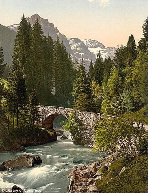 Швейцарские Альпы на фотохромах