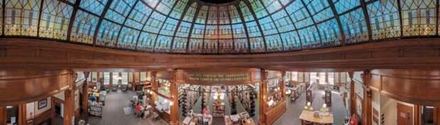 Интерьеры библиотек США на панорамах Томаса Шиффа