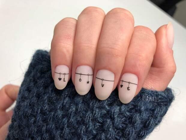 15 минималистичных маникюров с забавным дизайном для ваших маленьких ручек