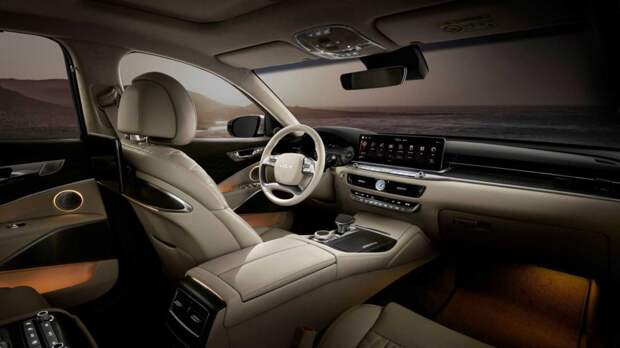 Kia рассекретила интерьер обновлённого седана K9