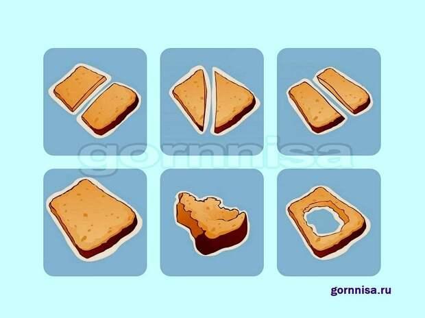 Тест на особенности личности – Как человек режет хлеб