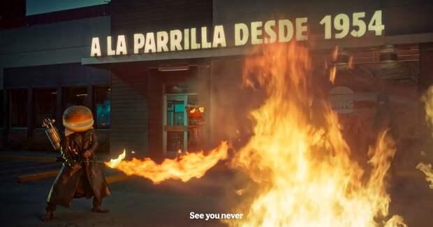 Каратели против консервантов: Burger King снял рекламу в стиле Тарантино