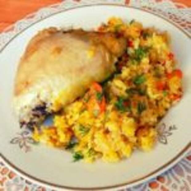 Рис с курицей в пакете для запекания в духовке