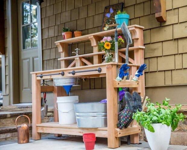 Дачный садовый рабочий стол своими руками (чертежи)