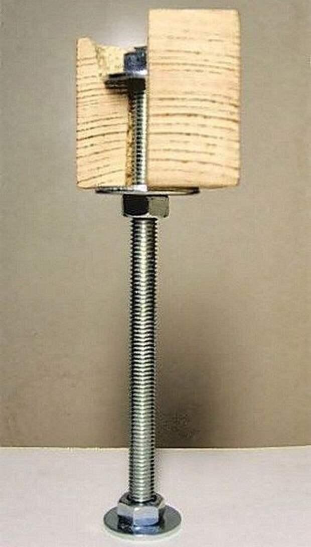 Установка лаг на резьбовые стойки-шпильки