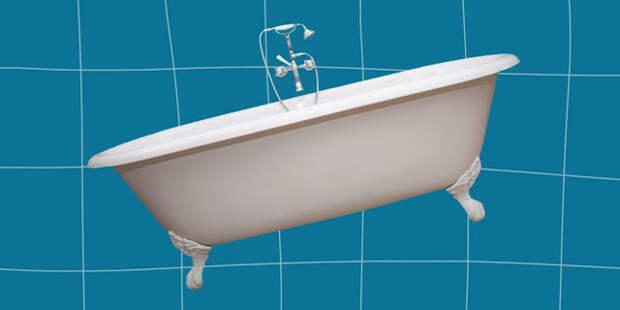 Стандарт высоты ванны от пола