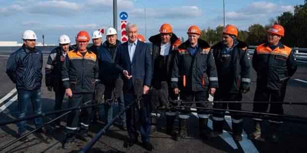 Собянин открыл транспортную связку Северо-Восточной и Северо-Западной хорд