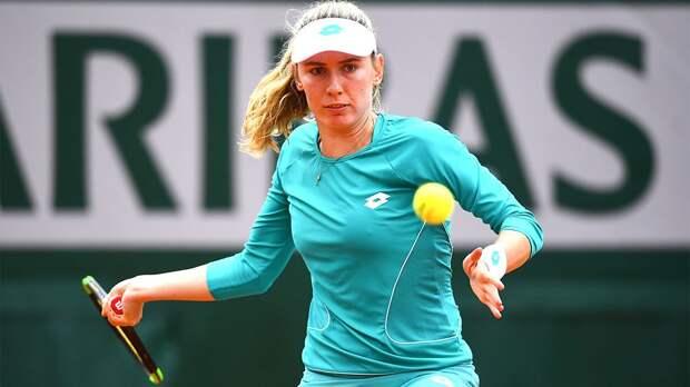 Россиянка Александрова проиграла американке Пегуле в третьем круге турнира в Риме