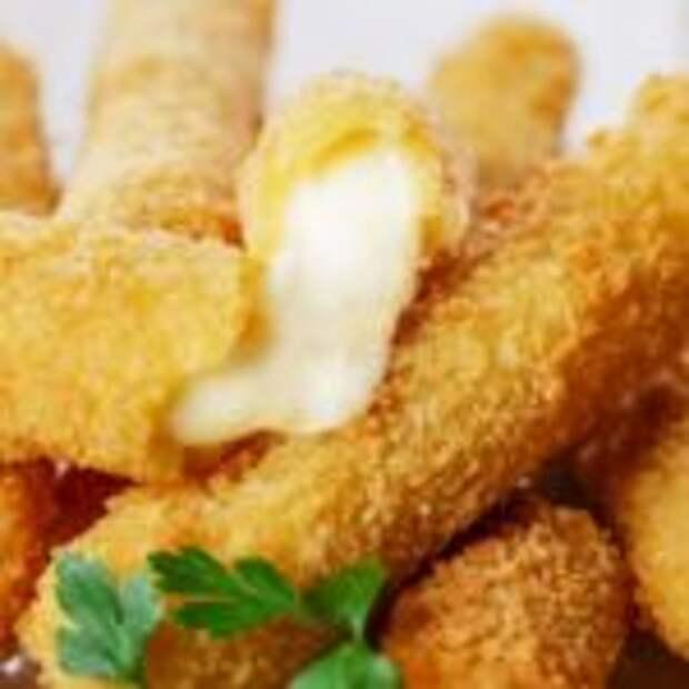 Хрустящие сырные палочки – бесконечно тянущийся жареный сыр фри в домашних условиях