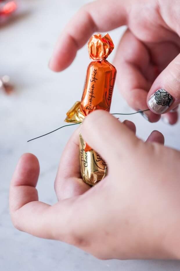Гирлянда из конфет (Diy)