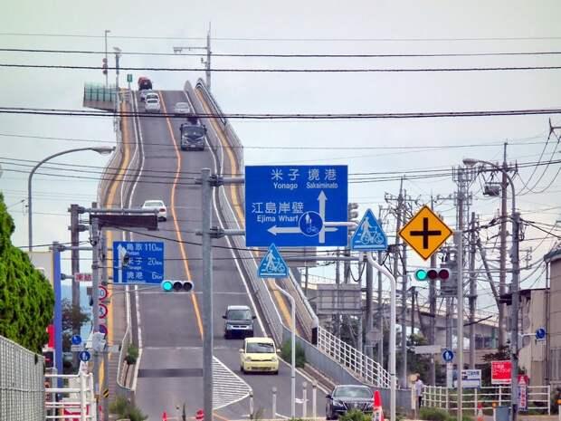 Это неамериканские горки, асумасшедший мост вЯпонии!