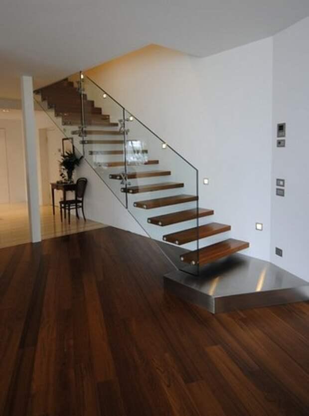 межэтажная лестница хай-тек