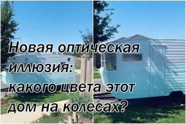 Новая оптическая иллюзия: какого цвета этот дом на колесах?