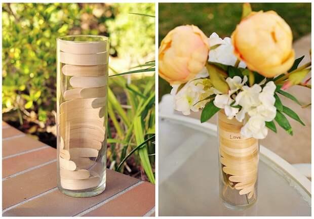Быстрый и простой декор обычной вазы, которые в кратчайшие сроки преобразит интерьер.