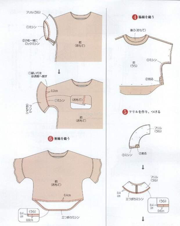 топ и блузка японские выкройки