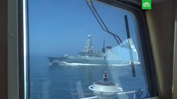 Видео с предупредительным огнем по британскому эсминцу