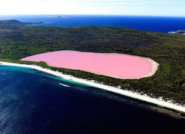 Розовое озеро Ретба на Сенегале