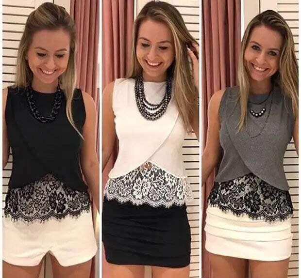 Преобразите одежду кружевом