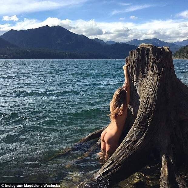 Instagram прелестницы, которая фотографируется обнаженной