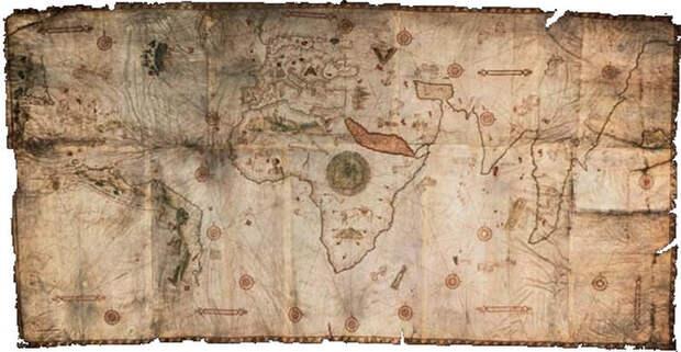 Древняя карта Каверио