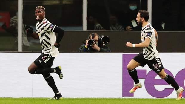 Гол Погба принес «Манчестер Юнайтед» победу над «Миланом» и путевку в четвертьфинал Лиги Европы