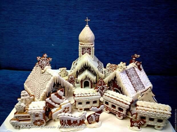Пряничная  новогодняя композиция ( большая), Сувениры, Москва,  Фото №1