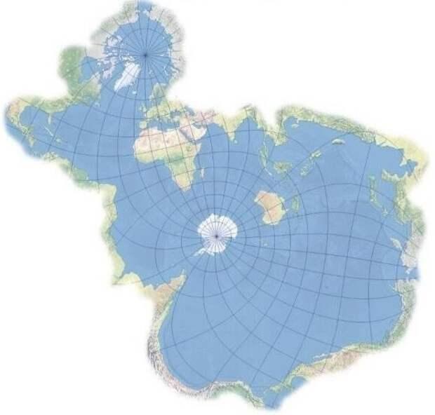 3. Карта мира с точки зрения рыб