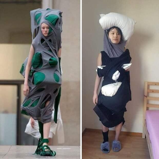 Лекарство от скуки: «высокая мода» из подручных средств