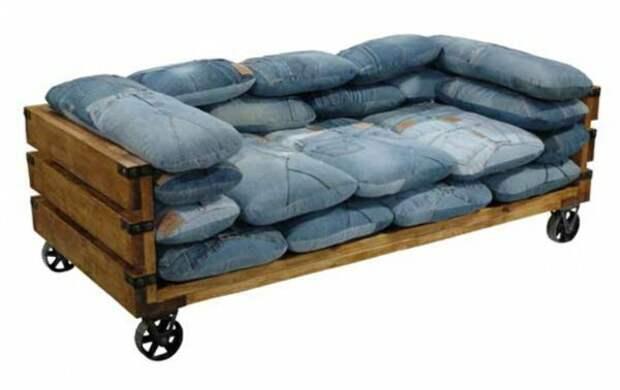 Подушки из старых джинсов (трафик)