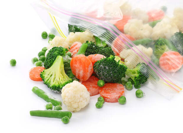 Овощи можно замораживать почти все