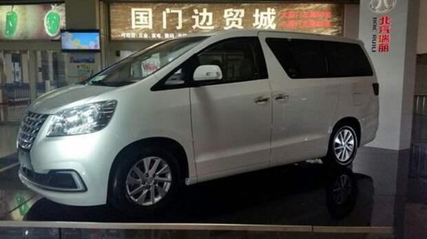 Китайцы скопировали минивэн Toyota Alphard и назвали его Ruili DoDa V8