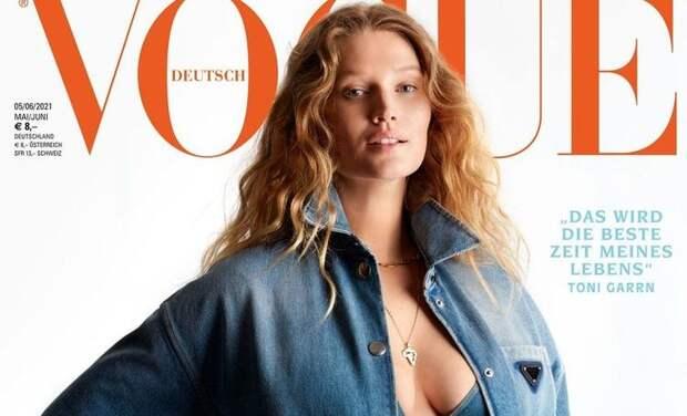 Экс-девушка Леонардо Ди Каприо Тони Гаррн снялась для глянцевого журнала на последнем месяце беременности