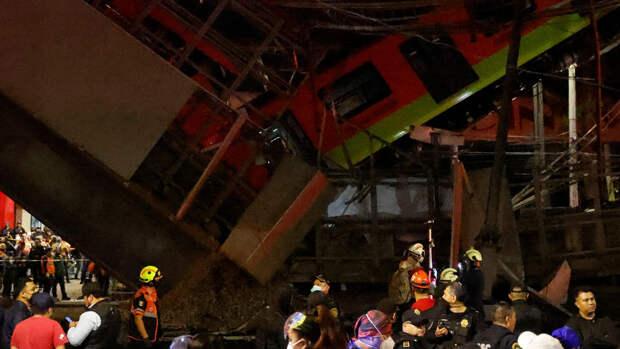 Число погибших при крушении метромоста в Мехико возросло до 26