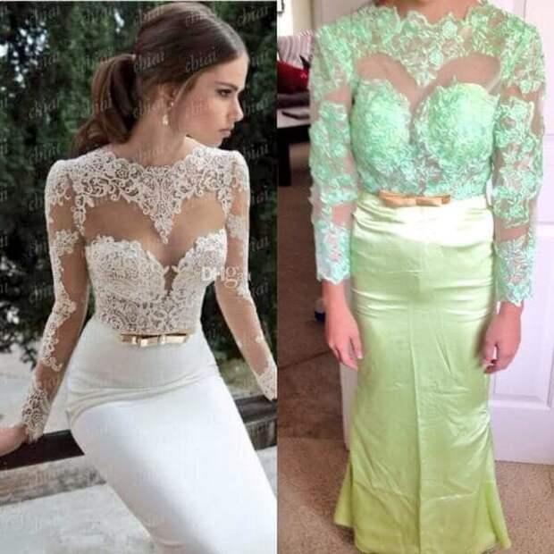 13. Вот что вы получаете, когда заказываете свадебное платье в интернете интернет, неудачи, онлайн-шопинг, онлайн-шоппинг, шоппинг