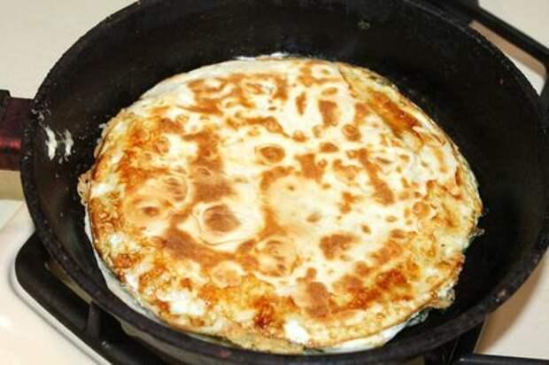 Яичница в лаваше Яичница, Яйца, Завтрак, Пицца, Рецепт, Еда, Кулинария, Блюдо, Длиннопост