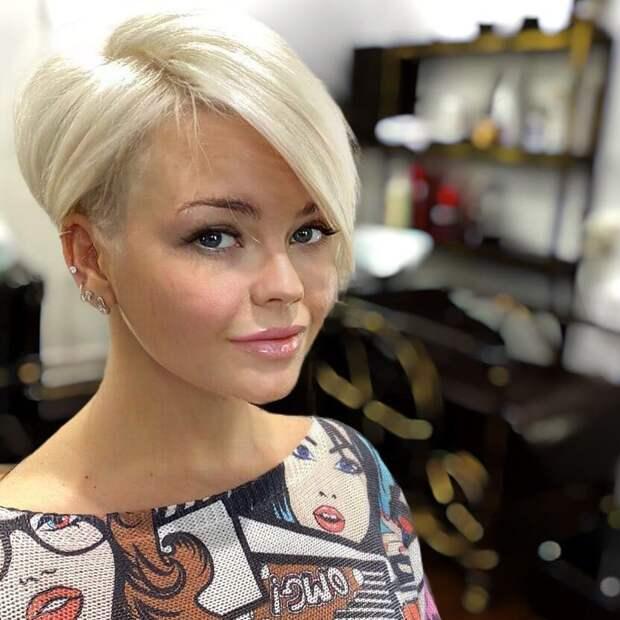 Объемный боб для круглого лица: 16 красивых вариантов для милых дам