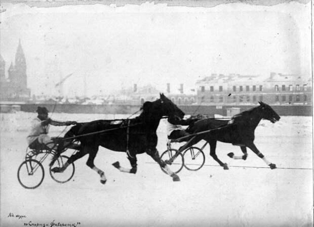 Зимние бега (1890-е) дореволюционные снимки, интересно, кадр, россия, факты, фото