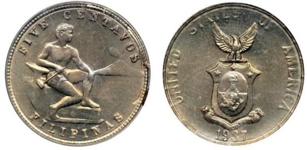 Монеты в честь победы (Филиппины, 1944).