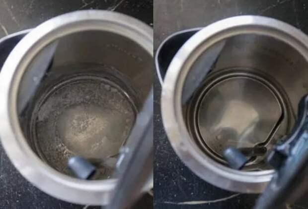Больше накипь не плавает по чайнику. Подружки подсказали способ как от нее избавиться за 10 минут без железной губки