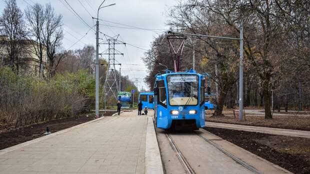 Первые односекционные трамваи запустили в Москве