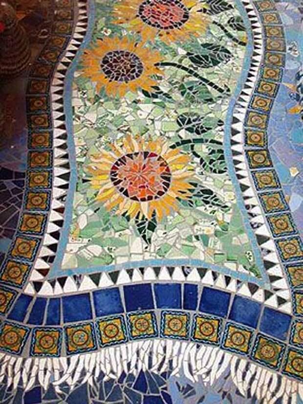 дорожки с мозаикой фото